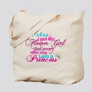Today I am a Flower Girl Tote Bag