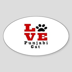 Love punjabi Cat Sticker (Oval)