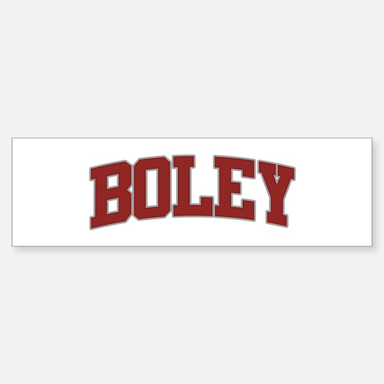 BOLEY Design Bumper Bumper Bumper Sticker