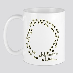Wandering Mountain Lion Tracks Mug
