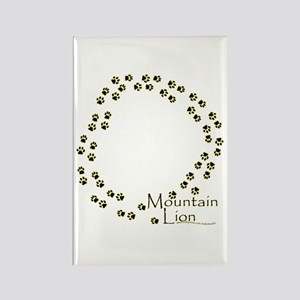 Wandering Mountain Lion Tracks Rectangle Magnet
