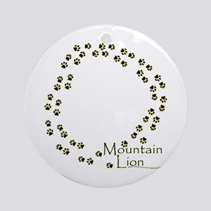 Wandering Mountain Lion Tracks Ornament (Round)
