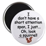 Attention Span Squirrel Magnet