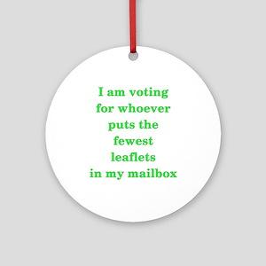 Voting No Leaflets Ornament (Round)
