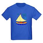 Boats on 4th Birthday Kids Dark T-Shirt