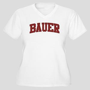 BAUER Design Women's Plus Size V-Neck T-Shirt