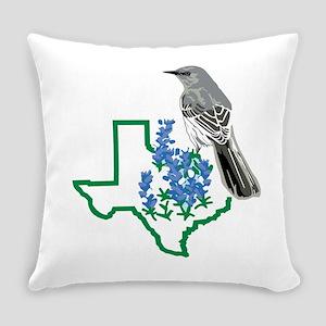 Texas Mockingbird Everyday Pillow