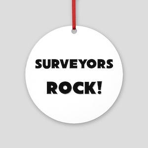 Surveyors ROCK Ornament (Round)