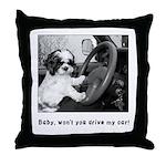 Baby, won't you drive my car! Throw Pillow
