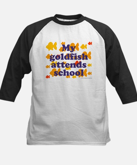 Goldfish attends school. Kids Baseball Jersey