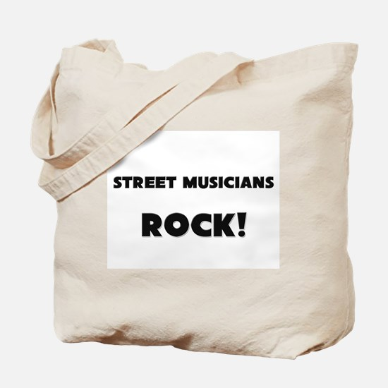 Street Musicians ROCK Tote Bag