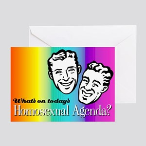 Homosexual Agenda Holiday Cards (Pk of 10)
