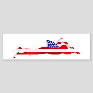USA Swimmer Sticker (Bumper)