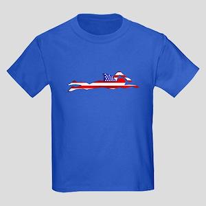 USA Swimmer Kids Dark T-Shirt