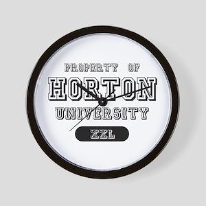 Property of Horton University Wall Clock