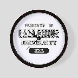 Property of Callenius University Wall Clock