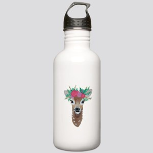 Fawn with Flower Crown Water Bottle