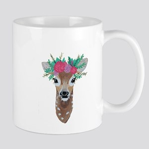 Fawn with Flower Crown Mugs