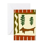 Country Dachshund Art Card