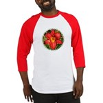 Red Day Lily Baseball Jersey