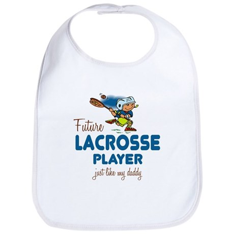 Future Lacrosse Player Like Daddy Baby Infant Bib