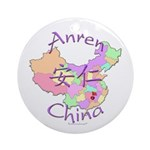 Anren China Map Ornament (Round)
