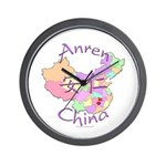 Anren China Map Wall Clock