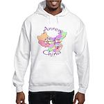 Anren China Map Hooded Sweatshirt