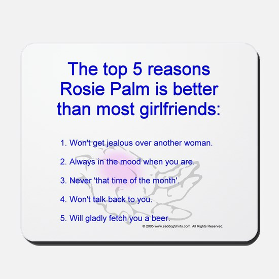 Dating Rosie Palm Mousepad