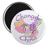 Changde China Map Magnet