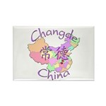 Changde China Map Rectangle Magnet (10 pack)