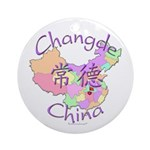 Changde China Map Ornament (Round)