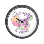 Changde China Map Wall Clock