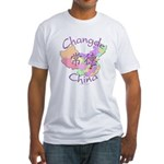 Changde China Map Fitted T-Shirt