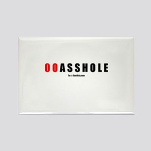 00 Asshole(TM) Rectangle Magnet
