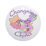 Changning China Map Ornament (Round)