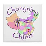 Changning China Map Tile Coaster
