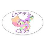 Changning China Map Oval Sticker (10 pk)