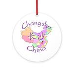 Changsha China Map Ornament (Round)