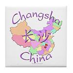 Changsha China Map Tile Coaster