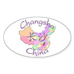 Changsha China Map Oval Sticker