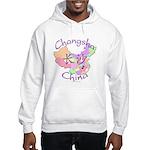 Changsha China Map Hooded Sweatshirt