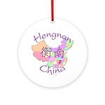 Hengnan China Map Ornament (Round)