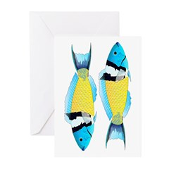 Bluehead Wrasse Greeting Cards