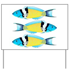 Bluehead Wrasse Yard Sign