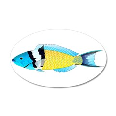 Bluehead Wrasse Wall Decal