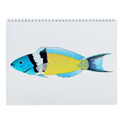 Wrasse And Parrot-Fish Wall Calendar