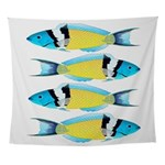 Bluehead Wrasse Wall Tapestry