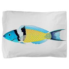 Bluehead Wrasse Pillow Sham