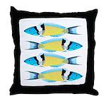 Bluehead Wrasse Throw Pillow